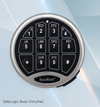Safelogic basic-securam key safe, key cabinet, key storage