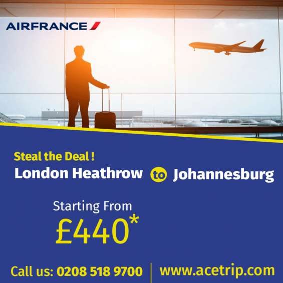 Special flights london-heathrow to johannesburg