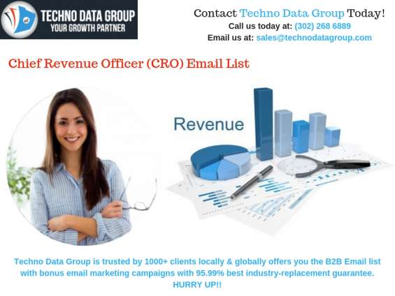 Chief revenue officer email lists | cro mailing lists
