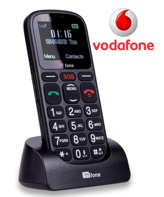 Ttfone comet tt100 vodafone pay as you go | mobile phones for elderly