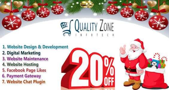 Christmas website design & development special offer 20% off india