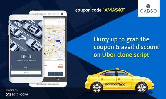 Hurry up to grab the coupon and avail 40% discount on uber clone script