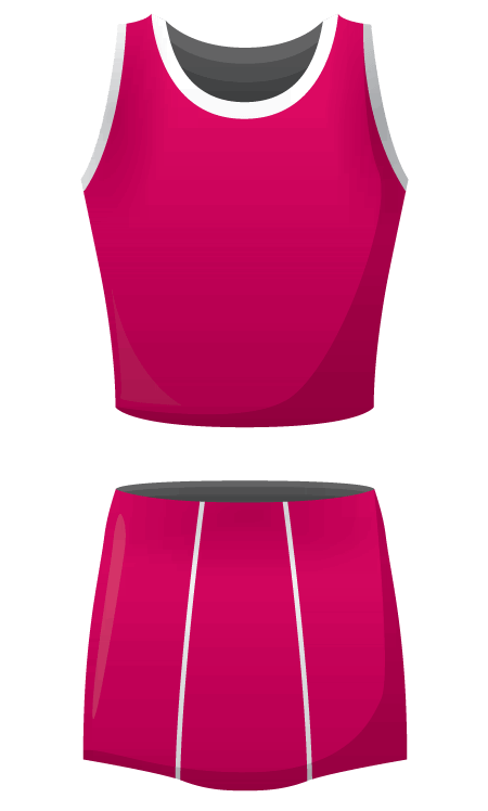 Design your netball kit in your teams colours from team colours