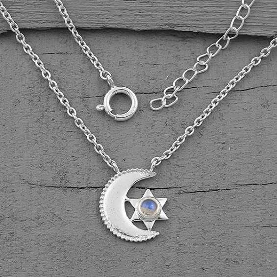 Moonstone necklace - moon's compatriot - gsj