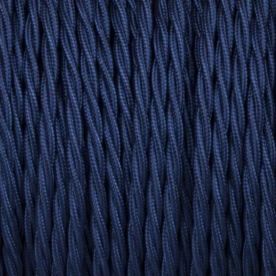 2 core twisted dark blue cable