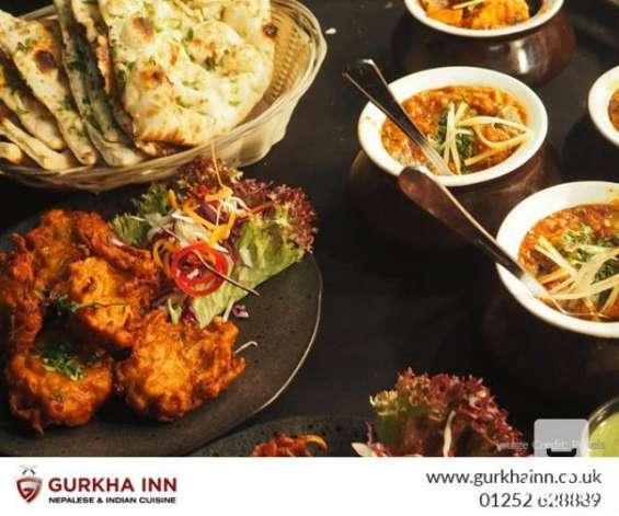 Traditional indian food in fleet