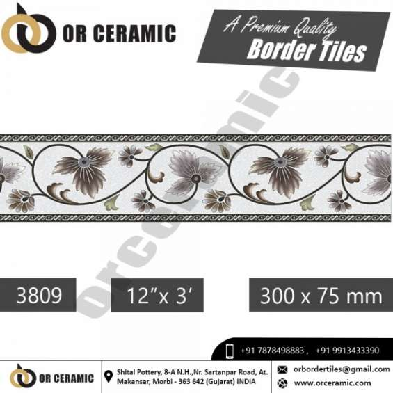 Designer border tiles manufacturer in uttar pradesh | or ceramic