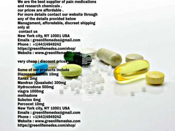 We are the best supplier of pain medications and research chemicals .+1(443)4949242