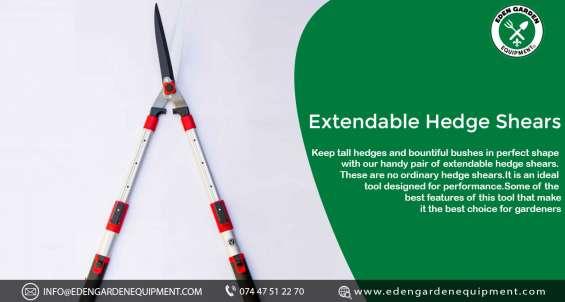 Extendable hedge shears - eden garden equipment