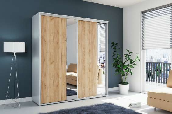 Sliding doors wardrobe mirror a4 200cm