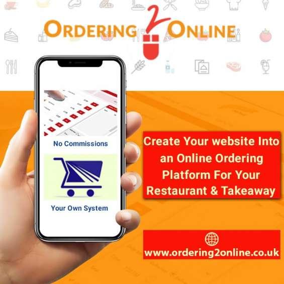 Create your website online ordering platformed