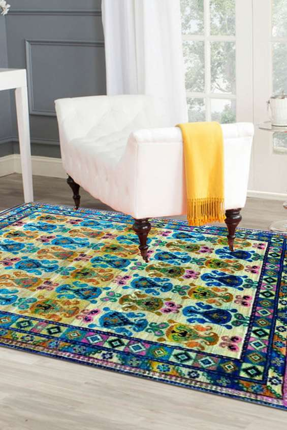 Purchase beautiful 8'.0 x 10'.0 ft ambi tiles modern rugs | rugsandbeyond