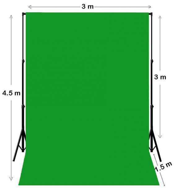Green screen backdrop photography