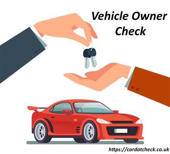 Check the previous owner of a used car via cardotcheck.