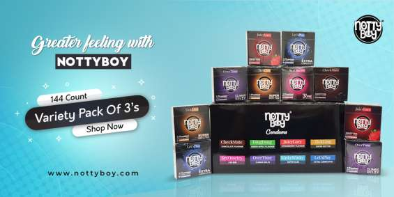 Buy nottyboy assorted variety bulk pack (144 count) of condom : available online at amazon