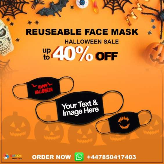 Buy personalised face masks