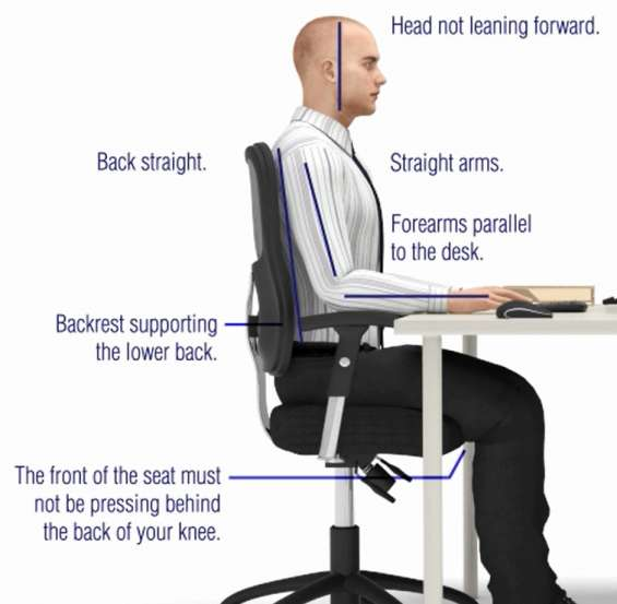 Office worker ergonomics workstation assessments