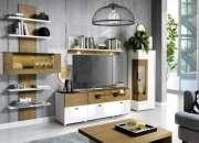 Buy Agana Shelving Unit Natural Oak And White Gloss Home Furniture