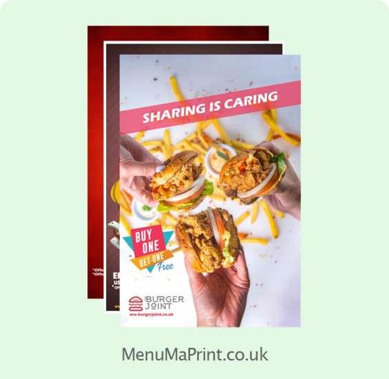 A1 posters | restaurant posters | poster printing | menuma print
