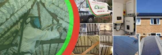 Icynene spray foam loft insulation with evergreen power