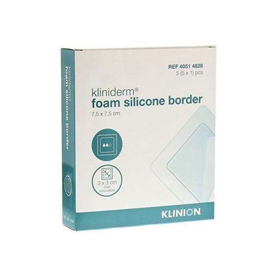 Kliniderm foam silicone border dressing | order online at wound care