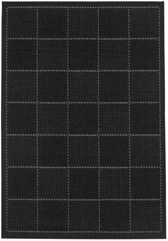 Checked flatweave rug by oriental weavers colour black (2)