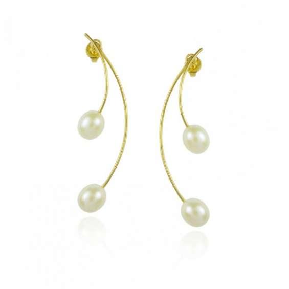 Gold pearl earring jackets