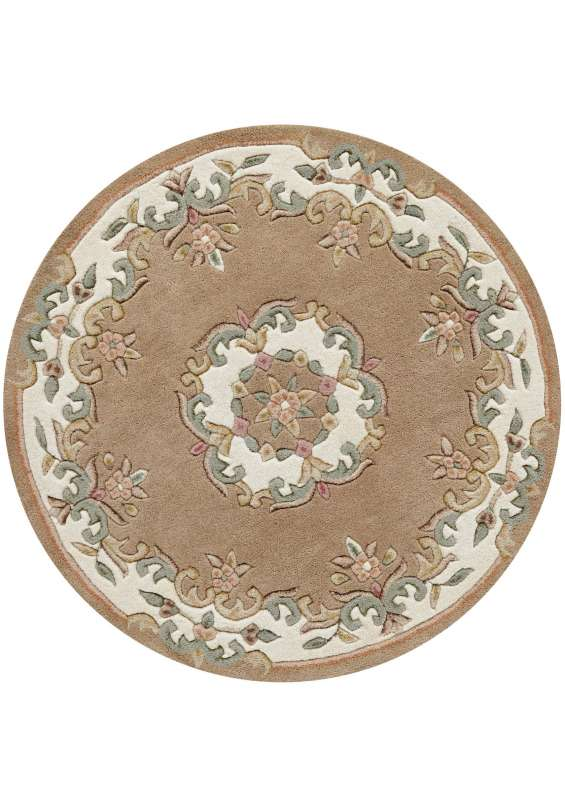 Royal rug by oriental weavers colour beige (round)