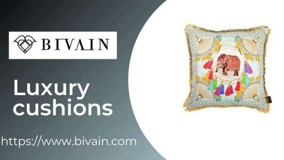 Velvet cushions | luxury cushions | bivain