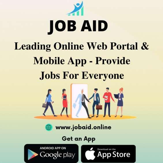 Search and post job vacancies online - job aid