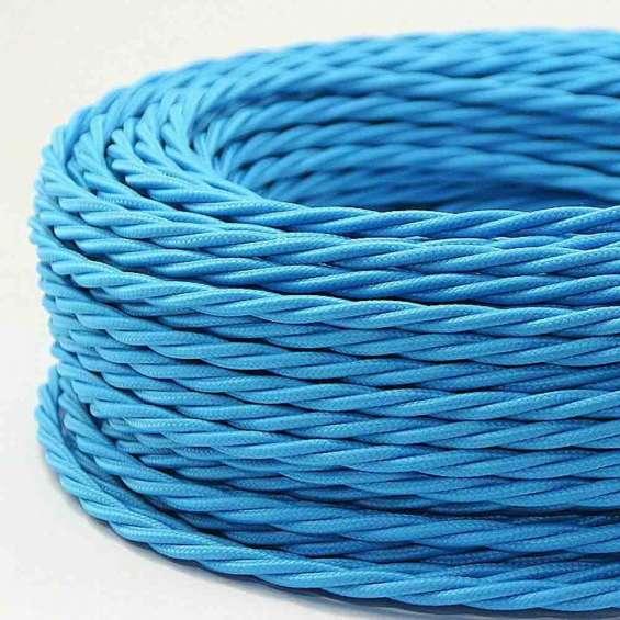 Light blue colour 2 core twisted cable