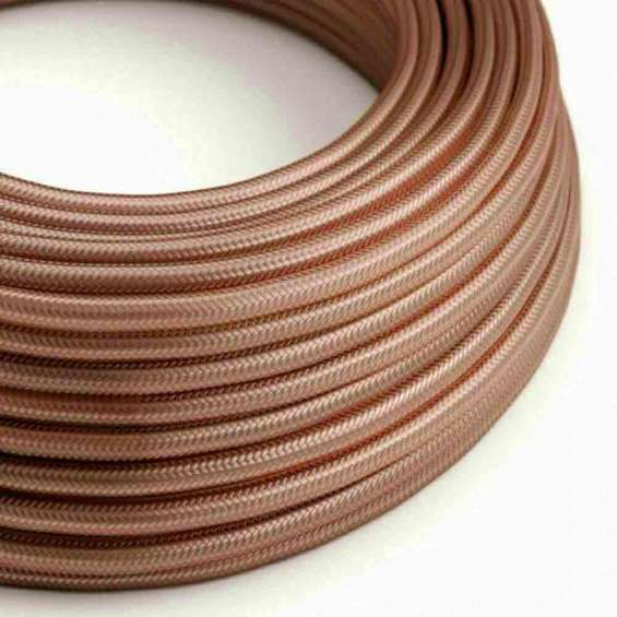 Rose gold colour 2 core round cable