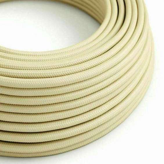 Cream colour 2 core round cable