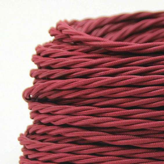 Red colour 2 core twisted cable
