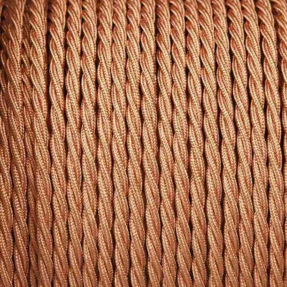 Rose gold colour 2 core twisted cable