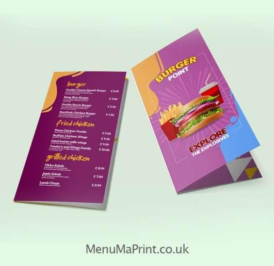Roll fold leaflet printing uk menuma print