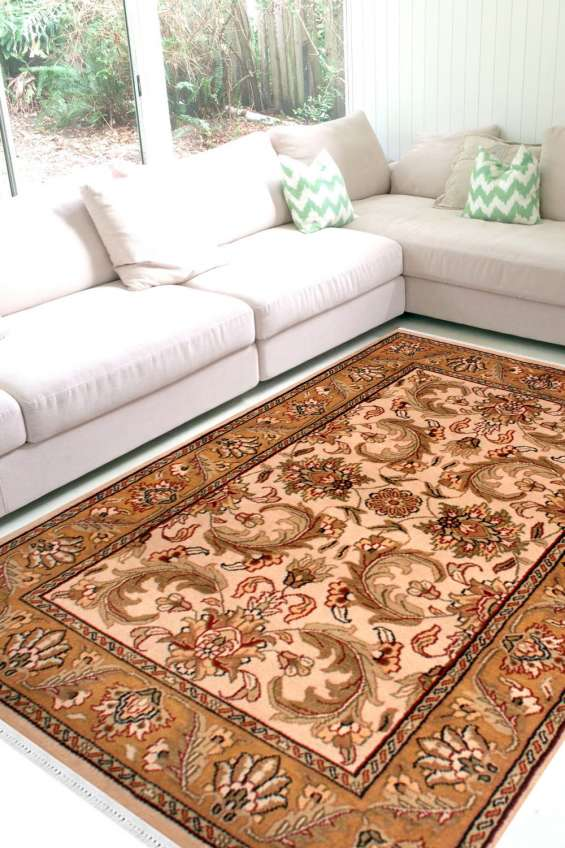 Shop area rugs online and beautiful mughal gold wool rugs online at rugs and beyond