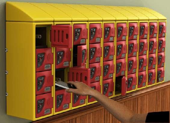 Wide range of small lockers for school