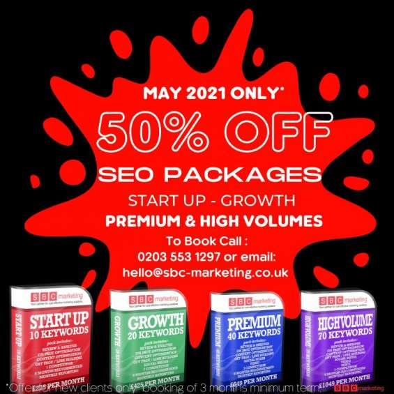 50% off all seo packages