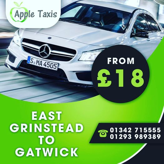 Book taxi east grinstead to gatwaick