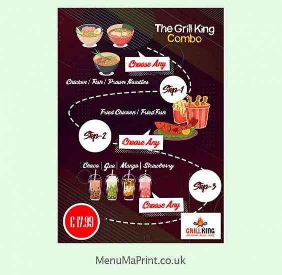 A1 poster printing restaurant poster design & amp printing uk