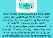 Affirmative Endeavour to Solve Epson Error Code 0x97