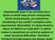Skilled Solution to Epson wf 3640 Error Code 0x97