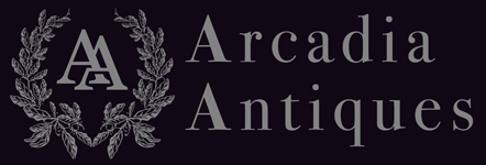 Antique painted bookcases at arcadia antiques uk