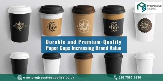 Durable and premium-quality paper cups increasing brand value