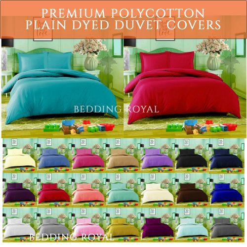 Plain dyed polycotton duvet cover sale