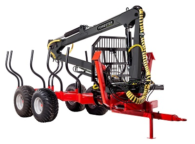 Forester forestry trailer ft-8 with a hydraulic crane fc-67