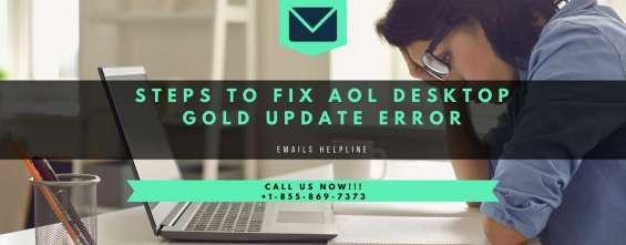 Steps to fix aol desktop gold update error