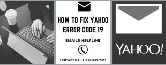 How to fix yahoo error code 19 - emails helpline