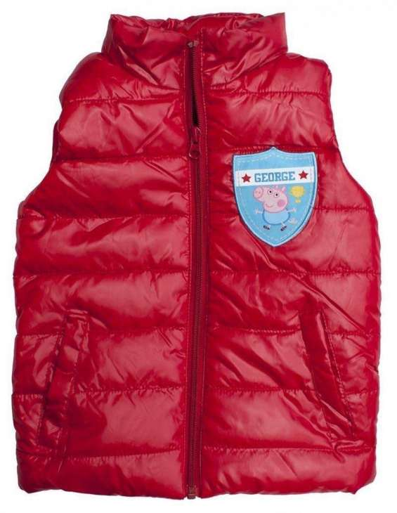 Boys casual sleeveless peppa pig george red jacket lightweight age 3,4,5,6,7 and 8 years